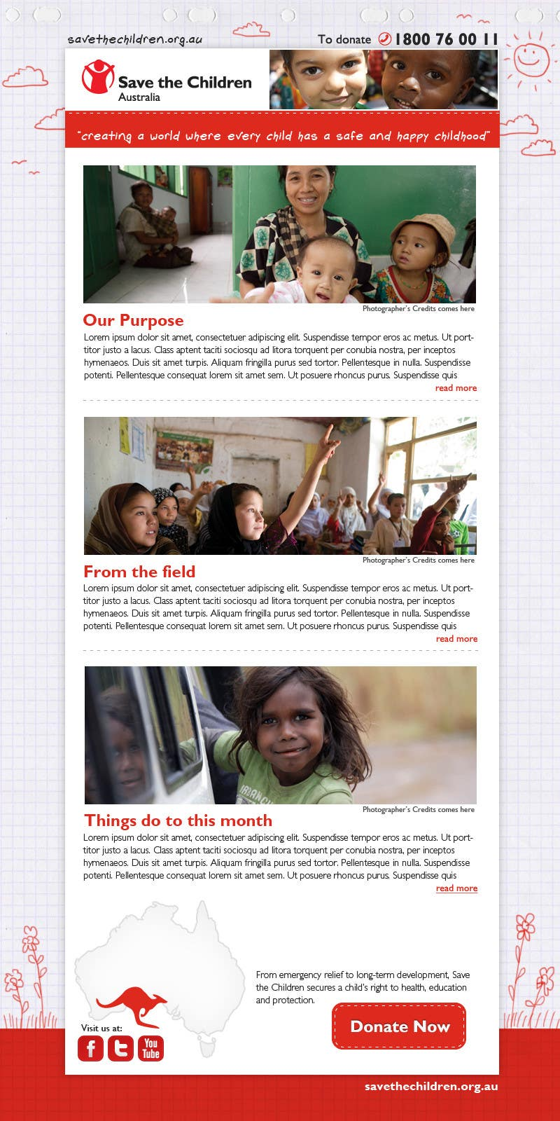 Contest Entry #                                        46                                      for                                         HTML Email for Save the Children Australia