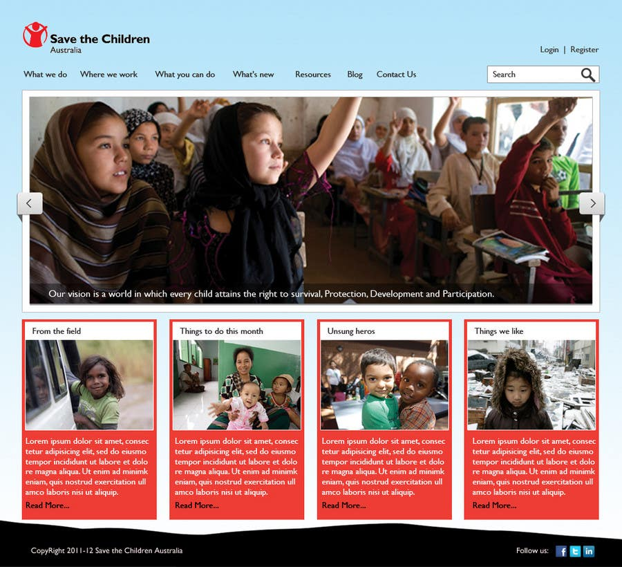 Contest Entry #                                        14                                      for                                         HTML Email for Save the Children Australia