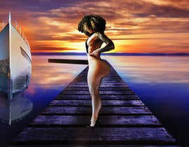 #52 for Sexy Girl on Sunset Dock by Kitteehdesign