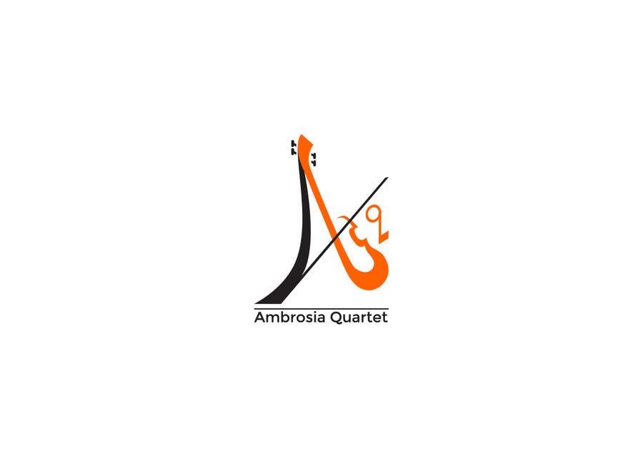 Contest Entry #39 for Ambrosia Quartet classical music logo