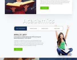 nº 59 pour Design a Website Mockup for International School par webmastersud
