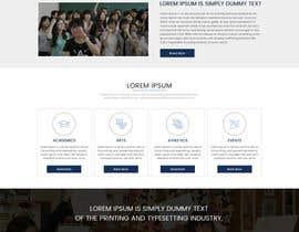 nº 5 pour Design a Website Mockup for International School par sudpixel