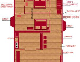 nº 25 pour Interior design using floorplan par karankar