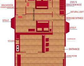 Nro 25 kilpailuun Interior design using floorplan käyttäjältä karankar