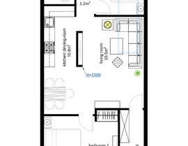 #28 for Interior design using floorplan by mariokobalyan