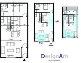 nº 1 pour Interior design using floorplan par DesignArh