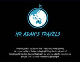 nº 63 pour Design a logo for a personal travel blog - Mr Adam's Travels par nasrinkausar