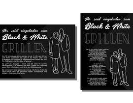 Nro 41 kilpailuun Design an Invitation for a cool Black and White Party, printable käyttäjältä pedroeira6