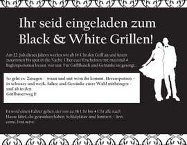 #14 for Design an Invitation for a cool Black and White Party, printable by remisv