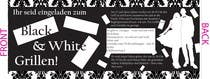 Graphic Design Kilpailutyö #22 kilpailuun Design an Invitation for a cool Black and White Party, printable