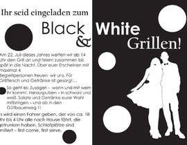 Nro 27 kilpailuun Design an Invitation for a cool Black and White Party, printable käyttäjältä remisv