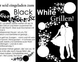 Nro 37 kilpailuun Design an Invitation for a cool Black and White Party, printable käyttäjältä remisv