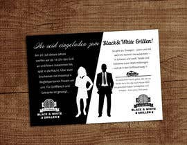 #34 for Design an Invitation for a cool Black and White Party, printable by gkhaus