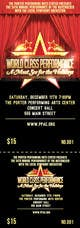Миниатюра конкурсной заявки №4 для Graphic Design for TicketPrinting.com HOLIDAY NUTCRACKER POSTER & EVENT TICKET