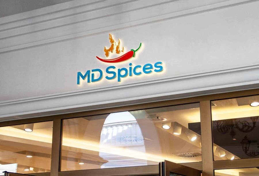 "Proposition n°56 du concours LOGO FOR INDIAN SPICE SHOP ""MD SPICES"""