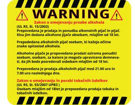 nº 11 pour Design a warning sign par GraphicShahin