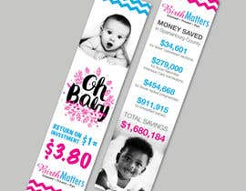 #39 for Design a Brochure - BirthMatters ROI Bookmark by MelTMedia