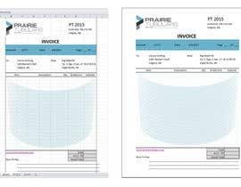 nº 9 pour Graphic Design for Invoice Template in Excel par alviolette