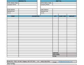 nº 6 pour Graphic Design for Invoice Template in Excel par hafizrafiuddin