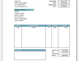 nº 2 pour Graphic Design for Invoice Template in Excel par erangakula