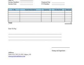 nº 1 pour Graphic Design for Invoice Template in Excel par bilalmashkoor
