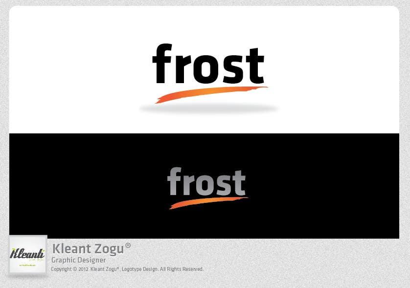 Inscrição nº 249 do Concurso para Logo Design for Frost