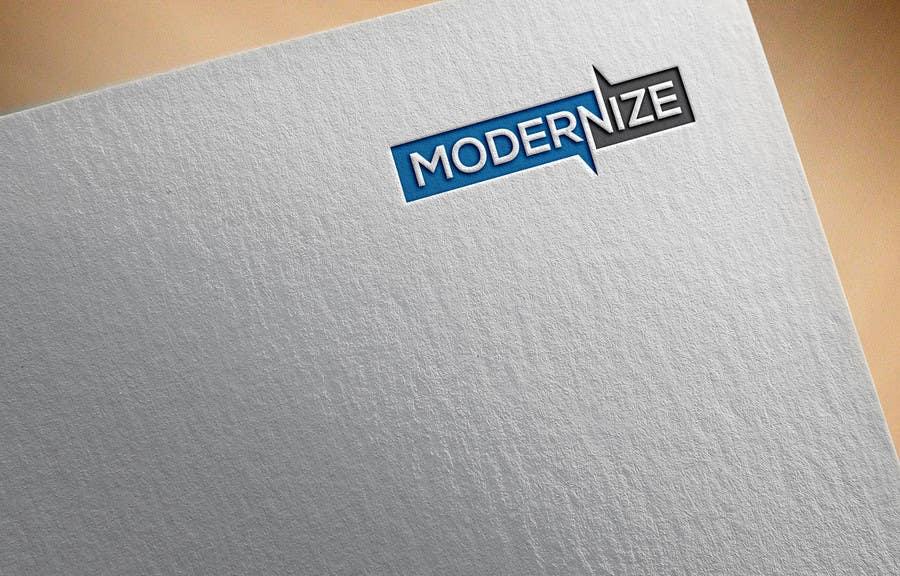 Proposition n°2 du concours modernize a logo