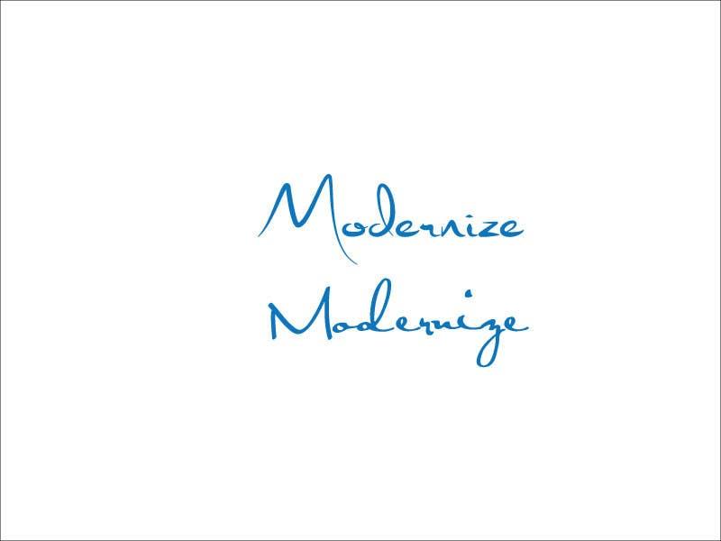 Proposition n°4 du concours modernize a logo