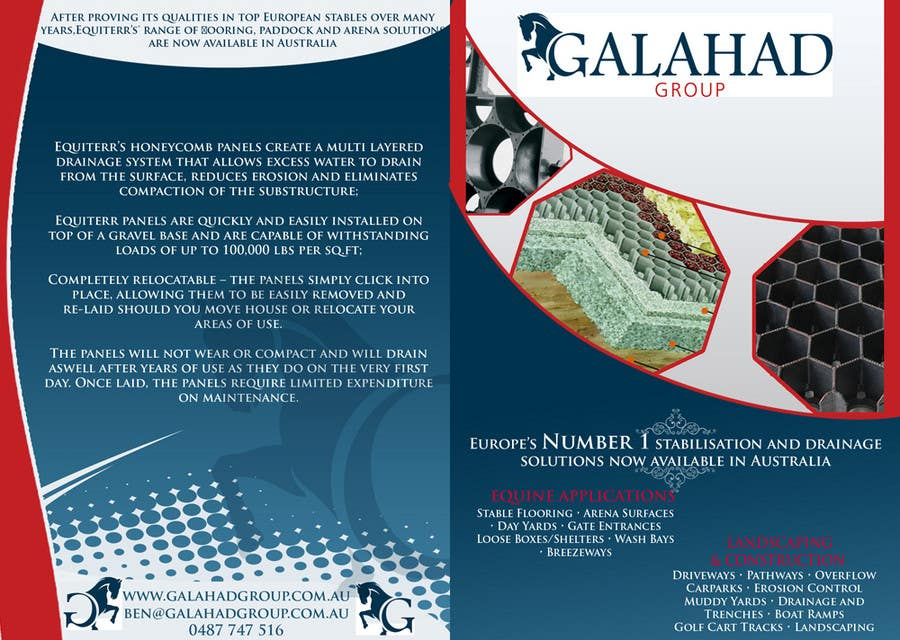 Contest Entry #6 for Brochure Design for Galahad Group Pty Ltd