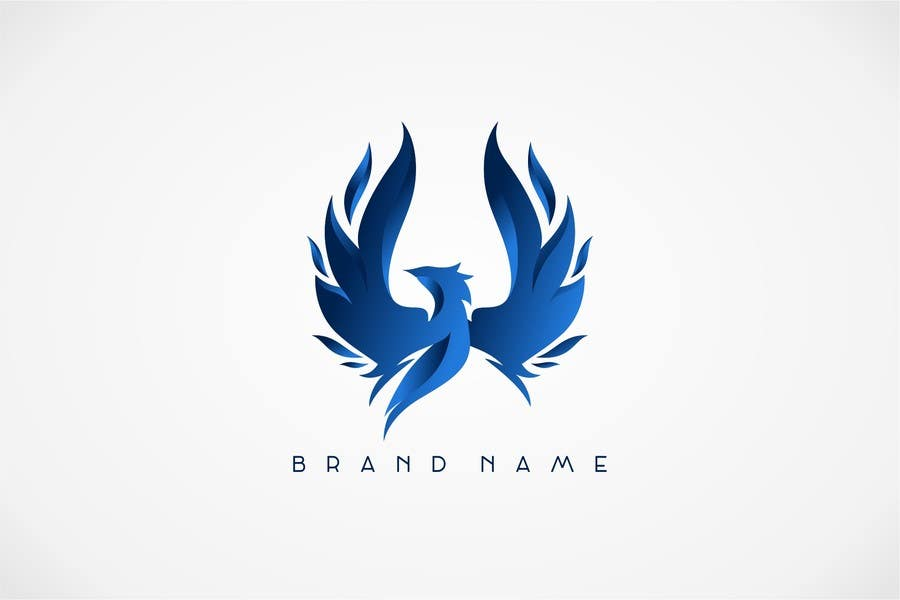Proposition n°19 du concours I need a blue phoenix to represent my brand