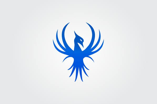 Proposition n°6 du concours I need a blue phoenix to represent my brand