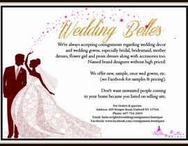 nº 5 pour Advertise bridal consignment business par fariCdkey