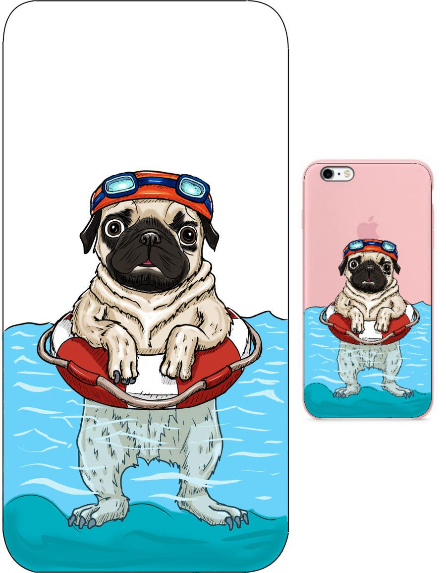 Proposition n°5 du concours Swimming Pug Illustration Required