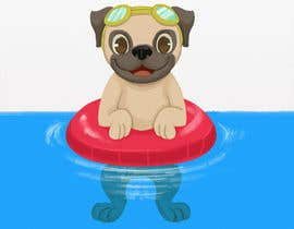 #16 for Swimming Pug Illustration Required by mayank94214