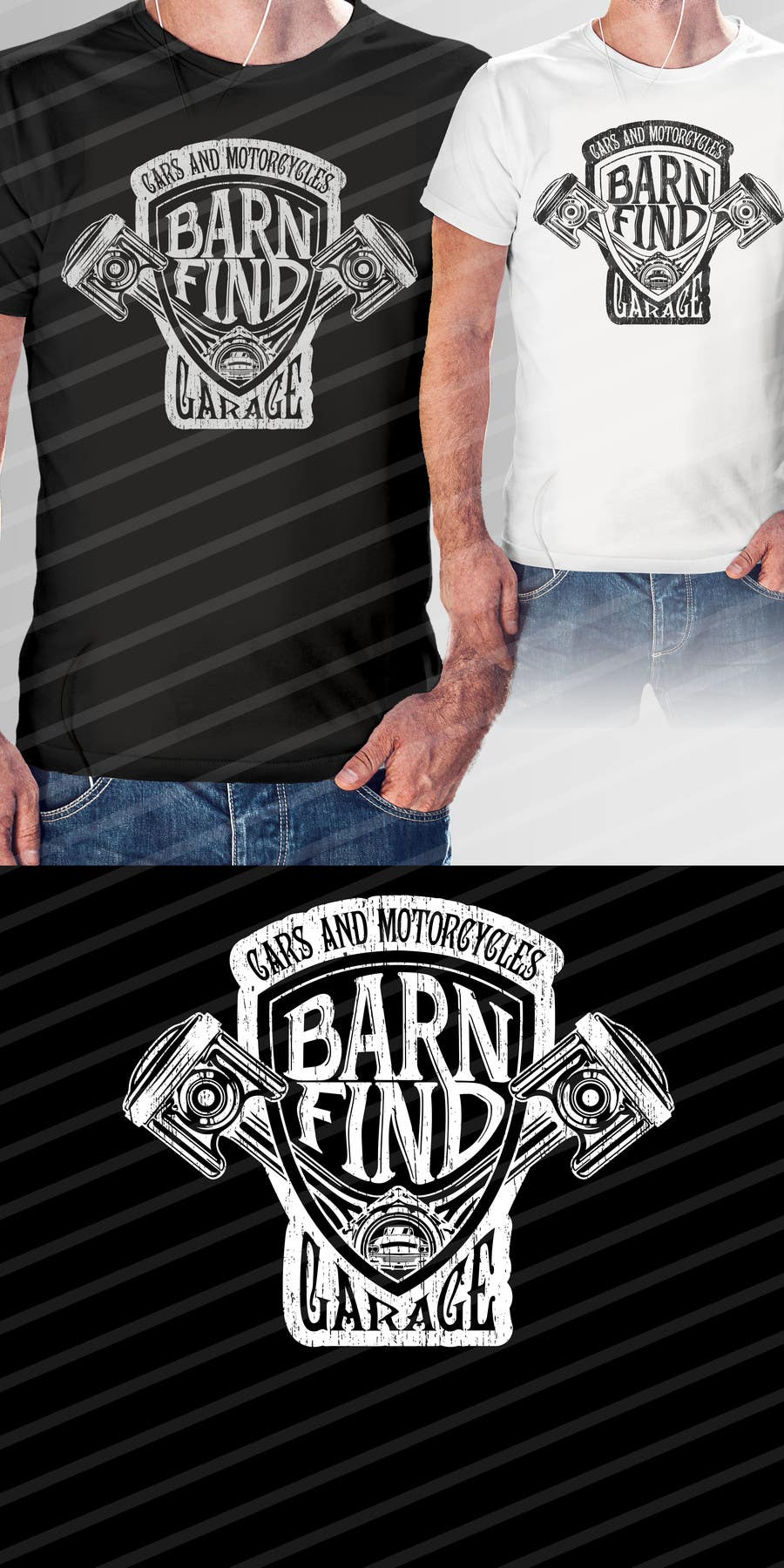 Proposition n°9 du concours t-shirt design for classic car and motorcycle restoration brand