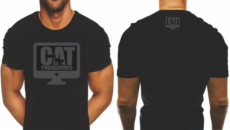 """Proposition n°6 du concours T-shirt design """"Cat-programmer"""""""