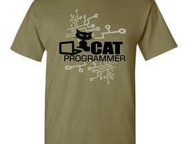 "#9 for T-shirt design ""Cat-programmer"" by azmantony74"