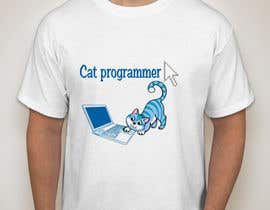 "nº 13 pour T-shirt design ""Cat-programmer"" par Morrislynda"