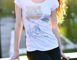 "#20 for T-shirt design ""Cat-programmer"" by DesignBuzz99"
