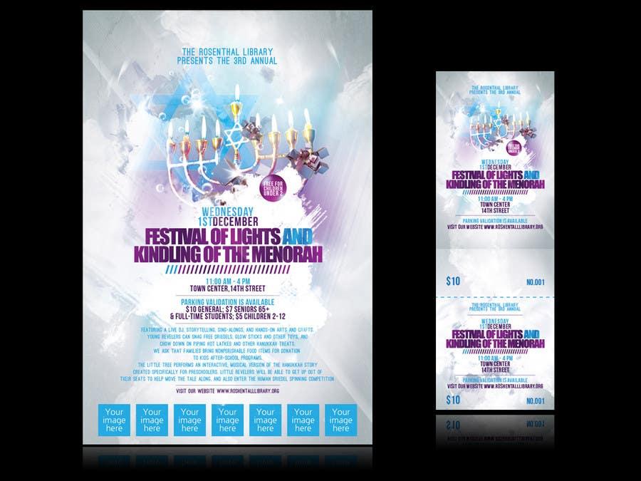 Конкурсная заявка №16 для Graphic Design for TicketPrinting.com HANUKKAH POSTER & EVENT TICKET
