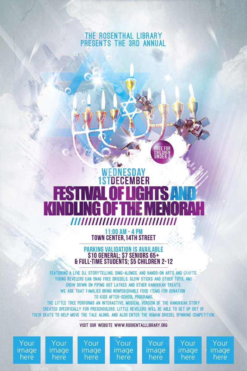 Конкурсная заявка №15 для Graphic Design for TicketPrinting.com HANUKKAH POSTER & EVENT TICKET