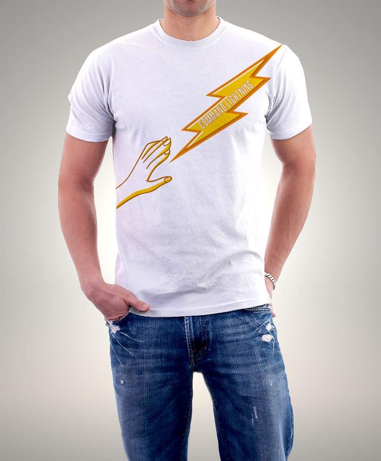 Kilpailutyö #                                        10                                      kilpailussa                                         Design a T-Shirt_command lightning