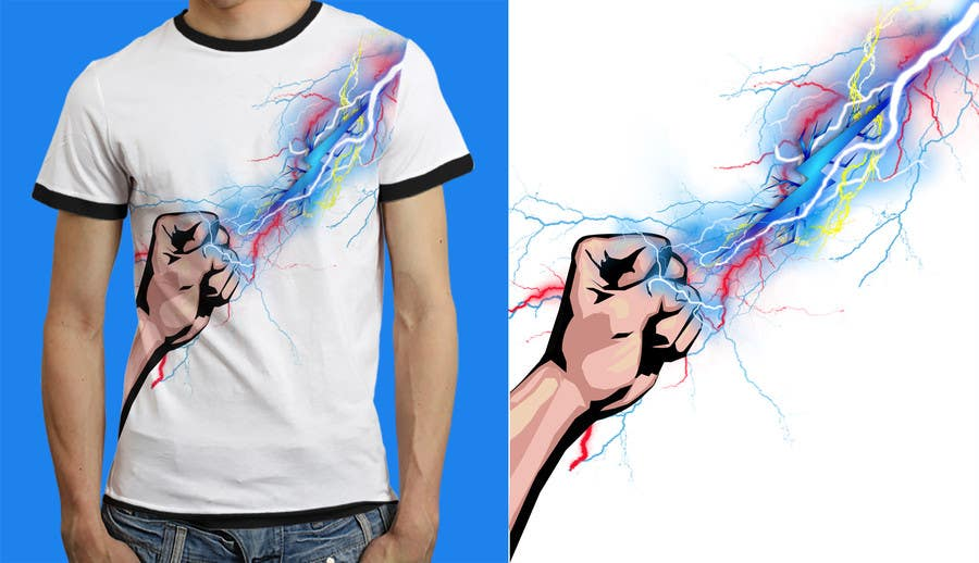 Kilpailutyö #                                        15                                      kilpailussa                                         Design a T-Shirt_command lightning