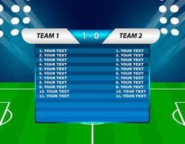 nº 1 pour Need scoreboard showing information behind team. par orientecreativo