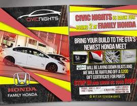 nº 12 pour Civic Nights Postcard/Flyer par s04530612