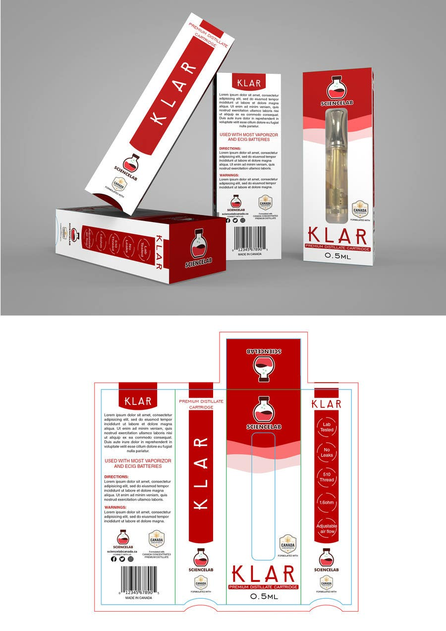Proposition n°15 du concours Carboard box Packaging Designs (Medical Marijuana)