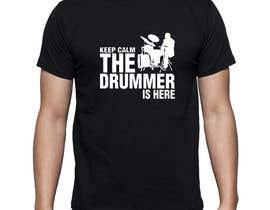 Nro 81 kilpailuun Design a Drummer T-shirt käyttäjältä Minal55