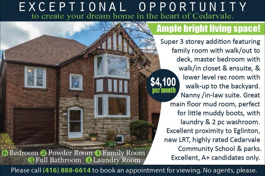 Kilpailutyö #                                        9                                      kilpailussa                                         Design a House Rental advertisement