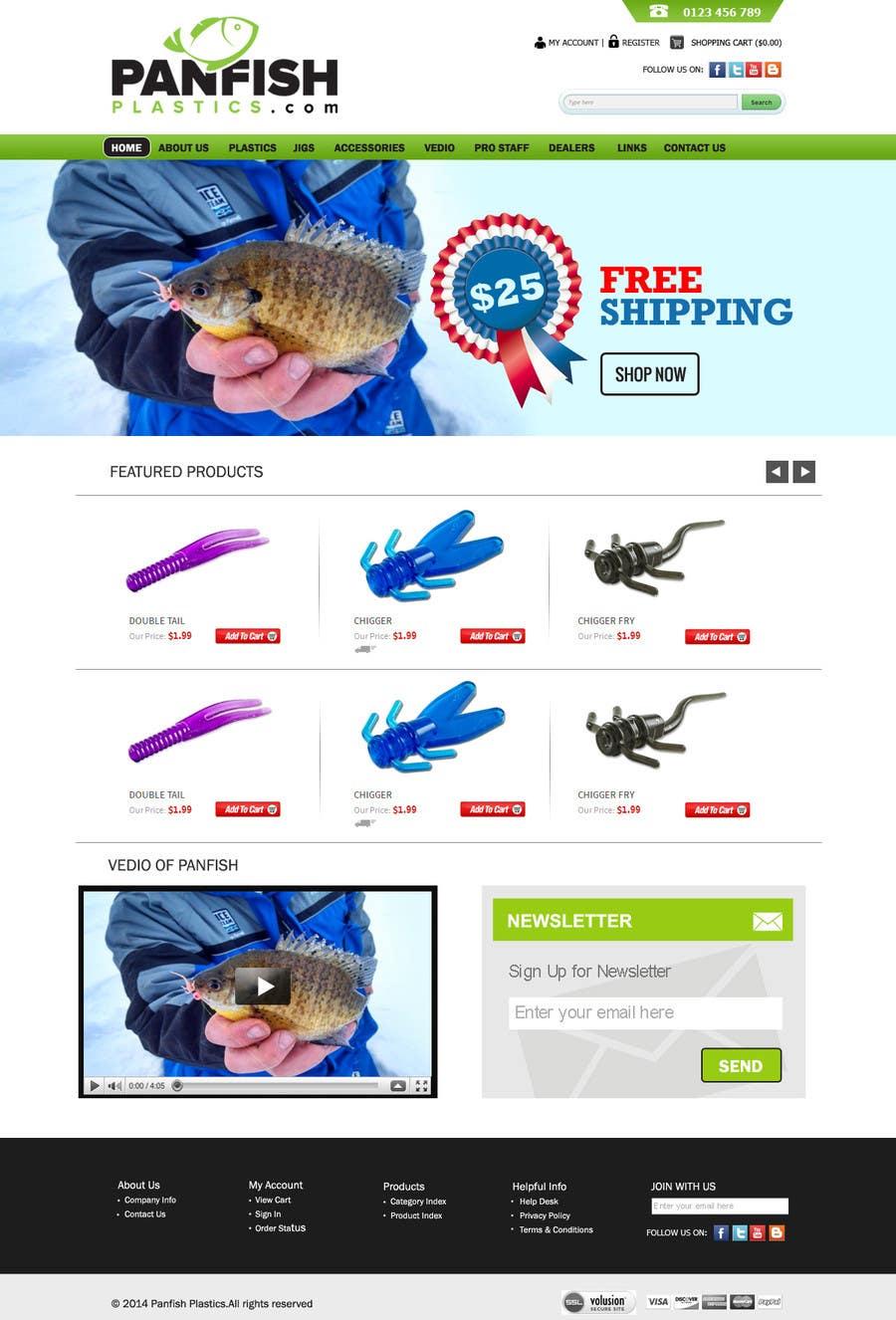 Penyertaan Peraduan #                                        29                                      untuk                                         Design a Website Mockup for ecommerce fishing store