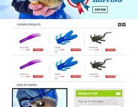 #29 untuk Design a Website Mockup for ecommerce fishing store oleh webmastersud